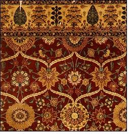 Фрагмент кашмирского ковра