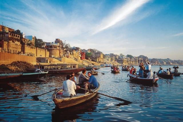 Лодки на Ганге в Варанаси