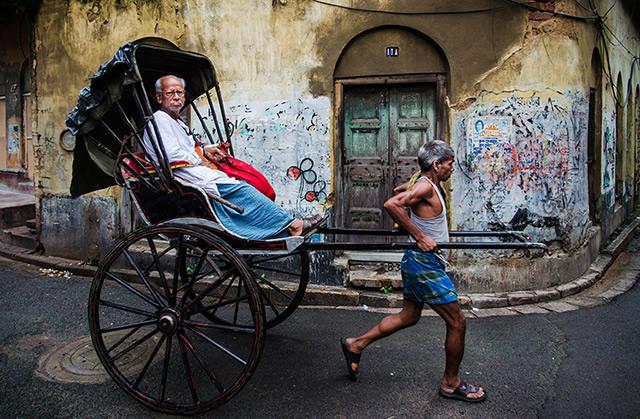Рикша в Калькутте