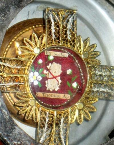 Реликвия в церкви на Горе Св. Фомы
