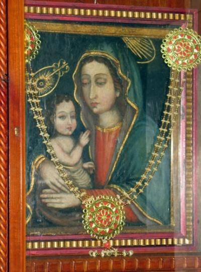 Мадонна с младенцем, по поверию, кисти Св. Луки
