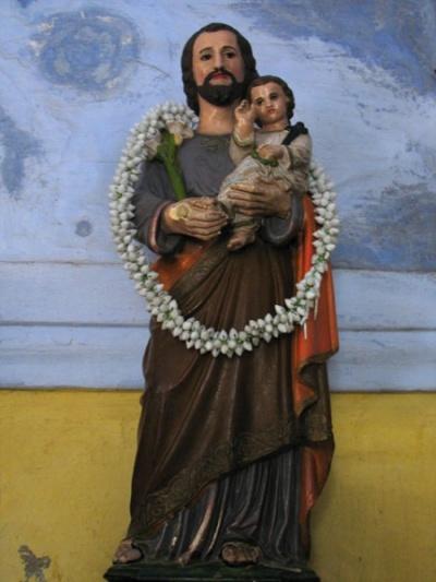 Св. Фома с мальчиком Христом в гирлядне из жасмина, церковь на Горе Св. Фомы
