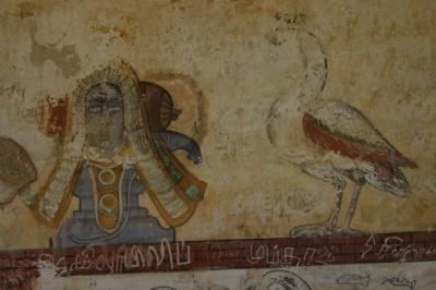 Танжавур. Настенные росписи в храме Брихадешвара