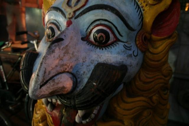 Пури. Носатый лев - характерный образ в Ориссе