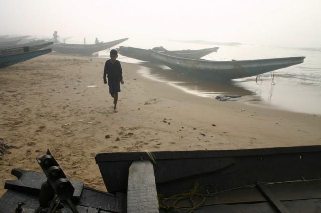 Утро в рыбацкой деревне