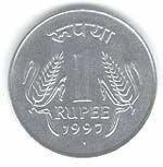 Индийские рупии: монета 1 рупия