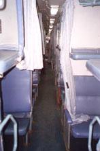 Внутренний вид вагона 2 АС (проход)