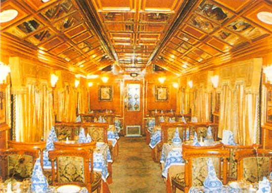 Поезд Palace on Wheels: ресторан
