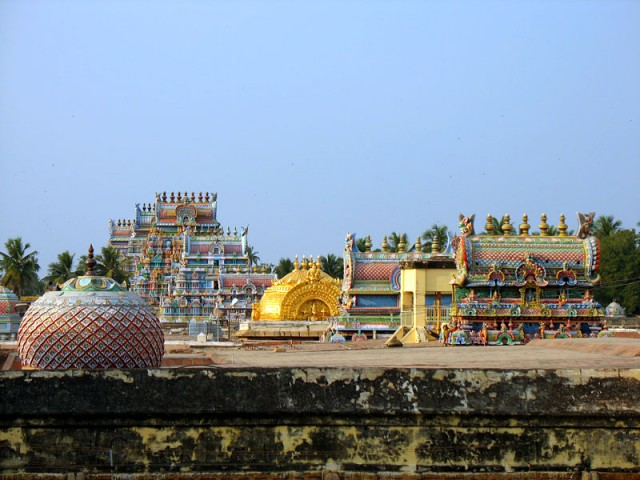 Гопуры храма Шрирангам. Тричи