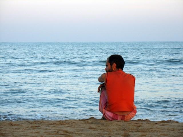 На берегу. Мамалапурам