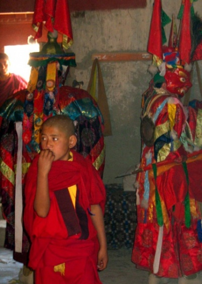 «За кулисами» мистерии, монастырь Пьянг, Ладакх