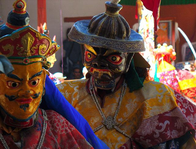 Маски духов на мистерии Чам, Пьянг, Ладакх
