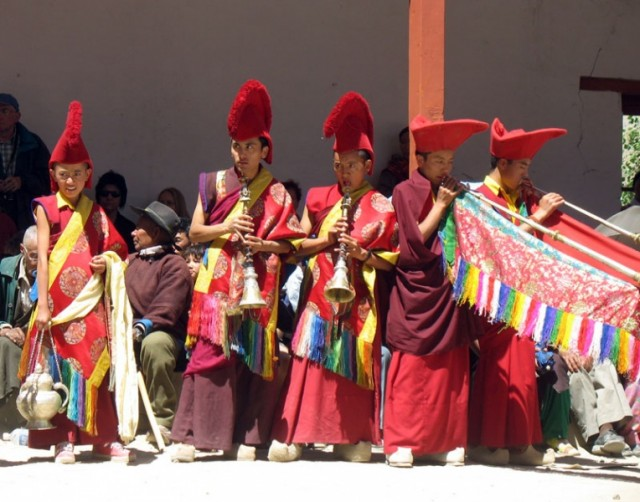 Духовой оркестр, монастырь Пьянг, Ладакх