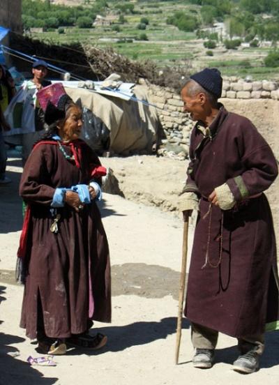 Встреча двух старожилов, Пьянг, Ладакх
