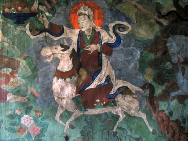 Настенные росписи в монастыре Пьянг, Ладакх