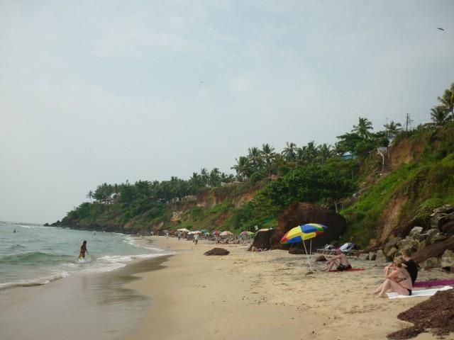 Варкала, центральный пляж