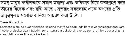 Текст на бенгальском