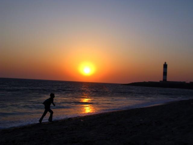 Закат в Двараке