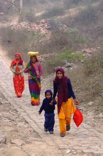 Окрестности Фатехпура-Сикри. Местные жители