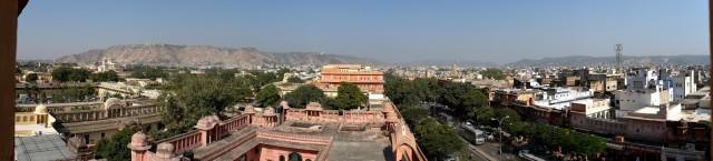 Джайпур, Вид с дворца ветров