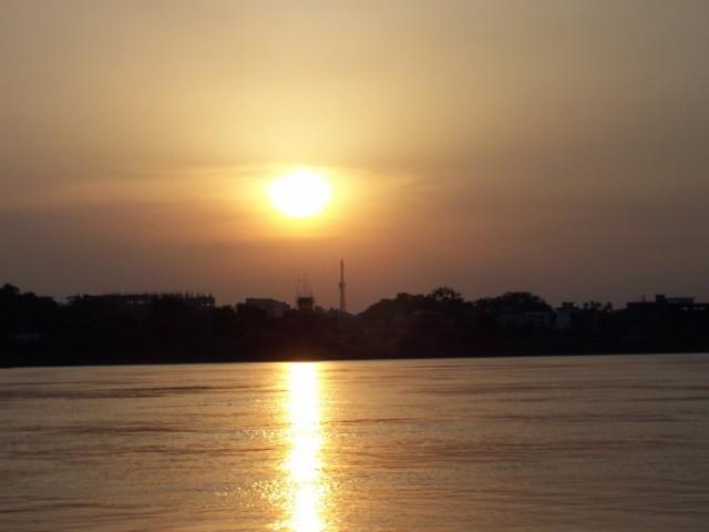 Варанаси Закат на реке Ганг позже