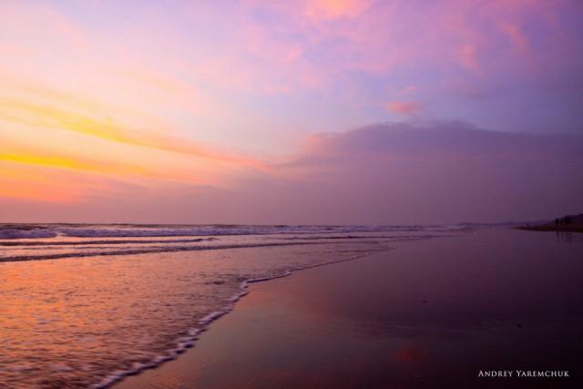 sunset in Mandrem