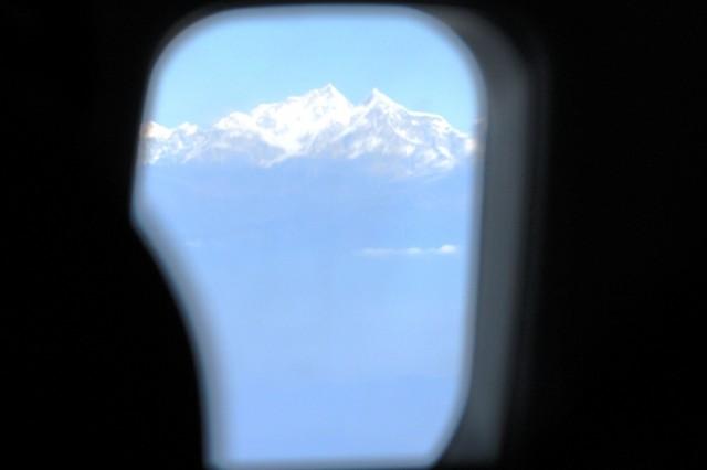 Дели-Катманду. Вид на Гималаи.