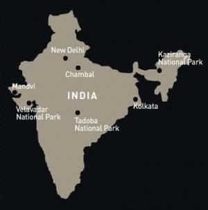 Места и заповедники Индии, где были сделаны фотографии.