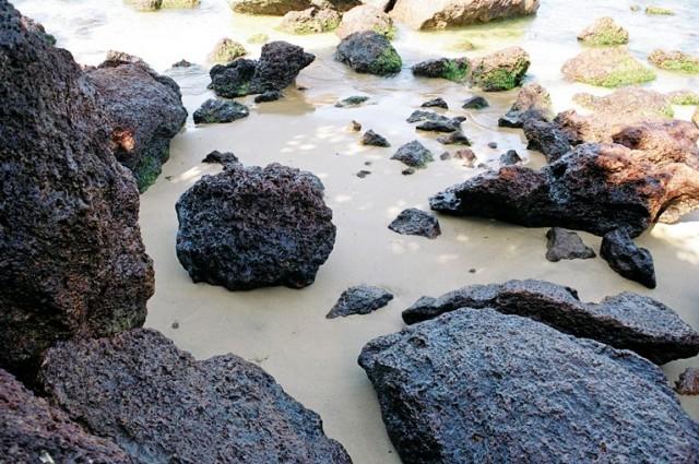 Картина песком, водой и камнем )