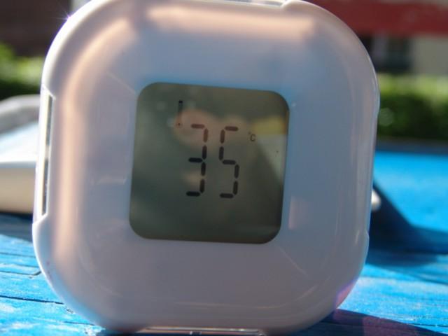 Tal. Время 13.30, температура на солнце