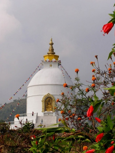 ступа в Покхаре
