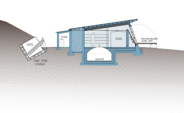 Изображение метантанка для получения биогаза