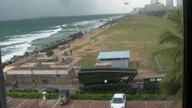 аримия Шри Ланки, из отеля Galle Face Hotel